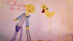 Τα παιδιά ζωγραφίζουν το κουκλοθέατρο